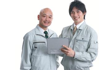 工事担当者と営業担当者