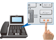 ビジネスフォン保留ボタン