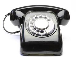 回転ダイヤル式黒電話イメージ