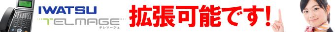 IWATSU TELMAGE(岩通 テレマージュ)拡張できます!と宣言している女性イメージ
