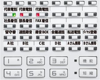 ビジネスホン電話機キーパターンイメージ