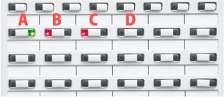 INSネット64代表組回線がビジネスホン電話機局線キーボタンをどのように流れるかのイメージ